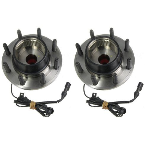 00-02 Ford Excursion Super Duty 4x4 w/4 whl ABS Frt Hub & Brg (MOTORCRAFT) PAIR