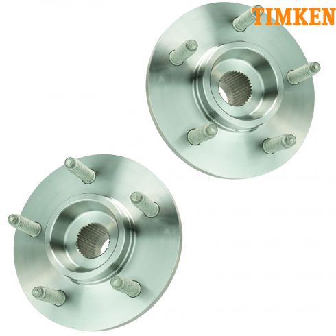 00-04 Ford F150 4x4 Front Hub & Bearing w/4whl ABS PAIR (TIMKEN)