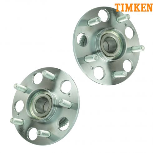 98-02 Accord w/Disc Brakes & 6 cyl Rear Hub & Brg PAIR (TIMKEN)