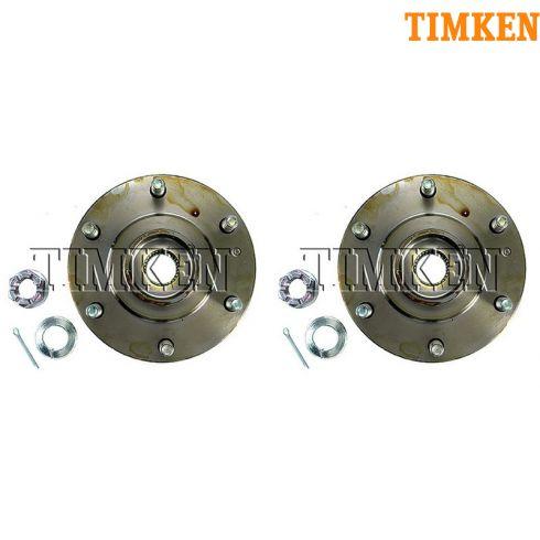 01-06 Mitsubishi Montero Front Wheel Bearing & Hub Assy LF = RF (Timken) PAIR