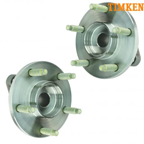 2006-07 Chevy HHR; 08 HHR w/Drum Brakes w/o ABS Front Wheel Hub & Bearing PAIR (Timken)
