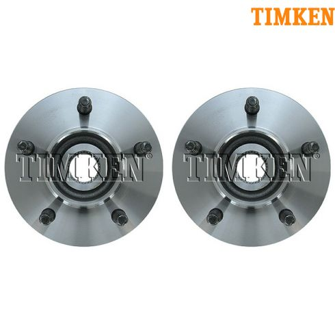 2000 Ford F150 w/14mm Studs; 01-04 F150 4WD w/o ABS Front Wheel Hub & Bearing PAIR (Timken)