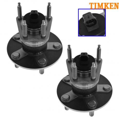 04-10 GM Mid Size FWD w/ Rear ABS Rear Hub & Bearing Assy PAIR (Timken)