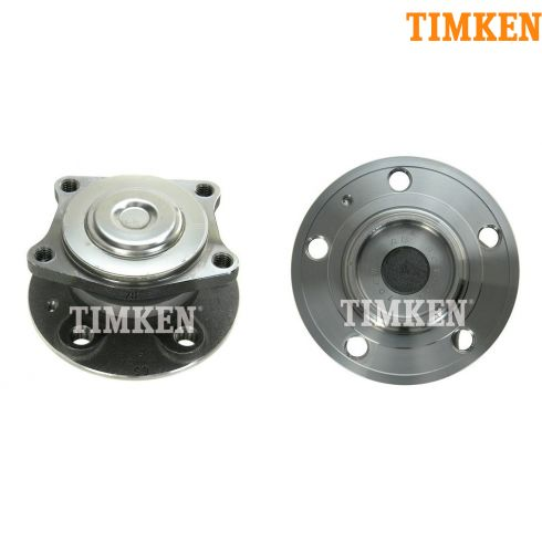 01-09 Volvo S60; 99-06 S80; 01-07 V70 FWD Rear Wheel Hub & Bearing PAIR (TIMKEN)