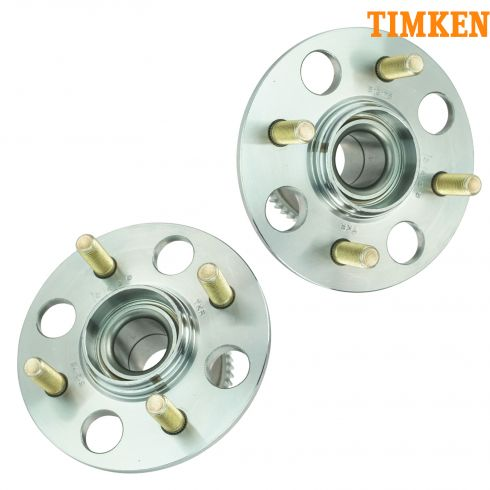 01-05 Honda Civic, 03-05 Civic Hybrid w/Drum Brakes w/ABS Rear Wheel Hub & Bearing PAIR (TIMKEN)