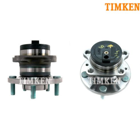 07-10 Mazda CX-9 w/FWD Rear Wheel Bearing & Hub PAIR (Timken)