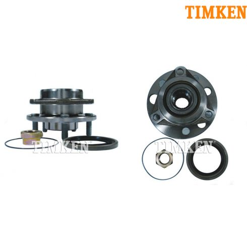 83-93 GM FWD Cars w/o ABS Front Hub & Bearing Assy PAIR (Timken)