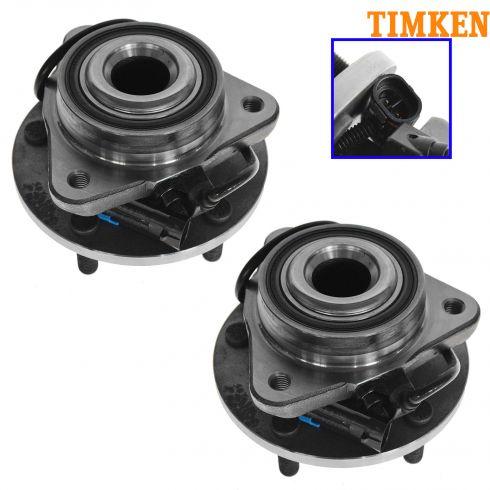 98-05 S10 S15 Blazer Frnt Hub Bearing w/2WD; w/ABS PAIR (Timken)