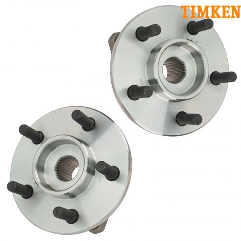 97-06 Jeep Vehicles Front Hub & Wheel Bearing PAIR (Timken)