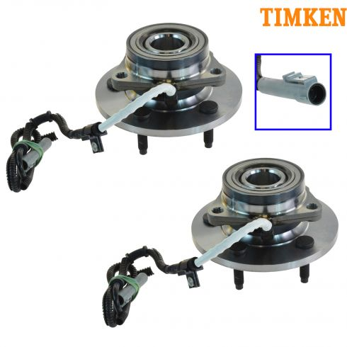 97-00 Ford F150 4wd w/AWAL Front Hub & Bearing Asy PAIR (Timken)