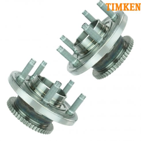 97-02 Ford Crown Vic w/ABS Front Hub & Bearing Asy PAIR (Timken)