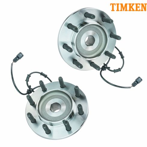 03-05 Dodge Ram 2500 3500 4x4 Front Hub & Bearing Assembly PAIR (Timken)