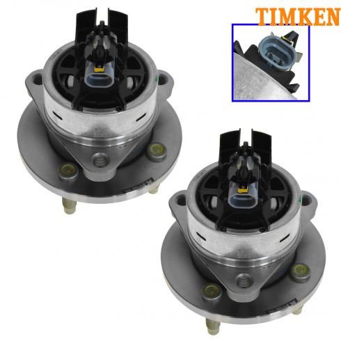 03-09 GM Mid Size FWD w/ABS & 4 Lug Front Hub & Bearing Assy PAIR (Timken)