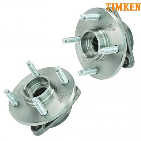 03-09 GM Mid Size FWD w/o ABS & w/4 Lug Front Hub & Bearing Assy PAIR (Timken)