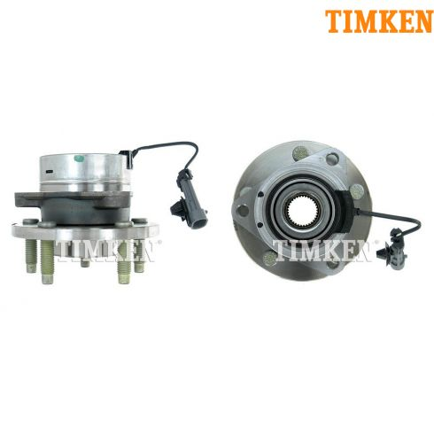 04-09 GM Mid Size w/ABS & w/5 Lug Front Hub & Bearing Assy PAIR (Timken)