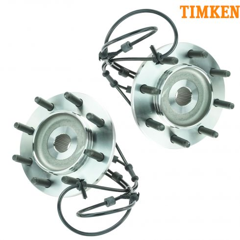 00-02 Dodge 2500 3500 Multifit Front Hub & Bearing PAIR (Timken)