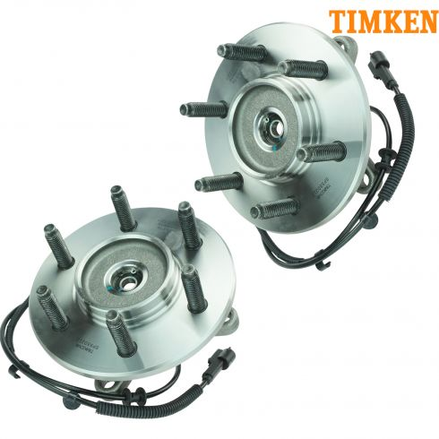 04-(thru 11/28/04) Ford F150 New Body 6 Stud 4WD Front Wheel Bearing & Hub PAIR (Timken)