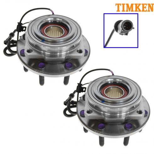 05-10 Ford F250SD F350SD w/SRW 4WD AWAL Front Wheel Bearing & Hub PAIR (Timken)