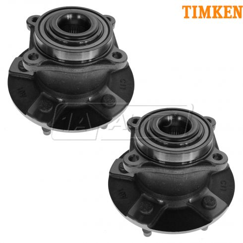 02-07 GM Mini Vans w/o ABS Rear Hub & Bearing PAIR (Timken)