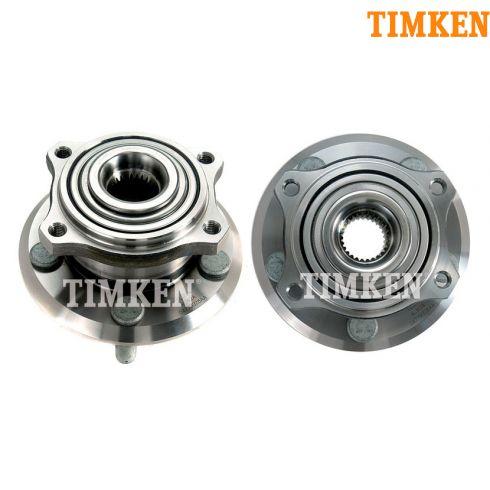 05-10 300; 07-09 Charger; 05-08 Magnum 4WD Front Wheel Bearing & Hub PAIR (Timken)
