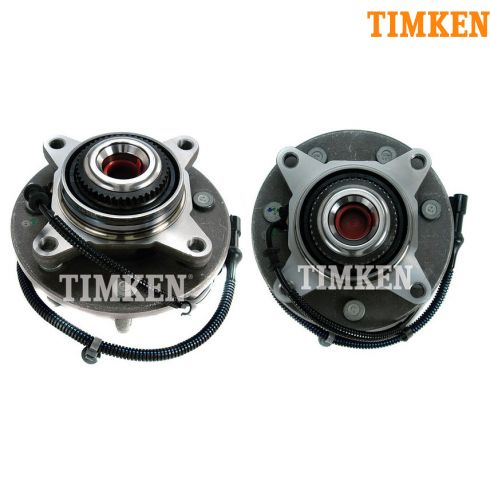 05 (from 11/30/04)-08 Ford F150 4WD (7 Lug) Front Wheel Bearing & Hub PAIR (Timken)