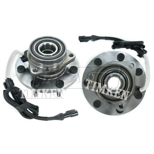 00-04 Ford F150; 97-99 F250 4WD (7 Lug) w/ABS Front Wheel Bearing & Hub PAIR (Timken)