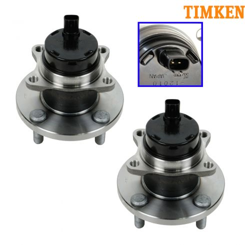 00-02 Toyota MR2 Spyder Front Wheel Bearing & Hub Assembly PAIR (Timken)