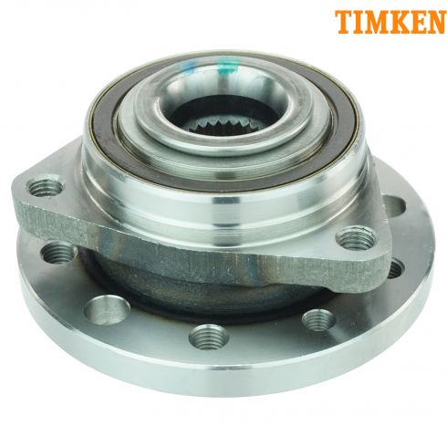 02-09 Saab 9-5; 10 9-5 (w/4th VIN E) Front Wheel Bearing & Hub Assy PAIR (Timken)