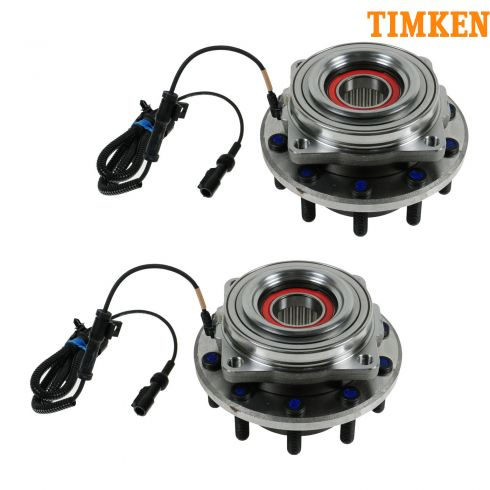 05-10 Ford F450SD, F550SD (w/4WD w/DRW) Front Wheel Bearing & Hub Assy PAIR (Timken)