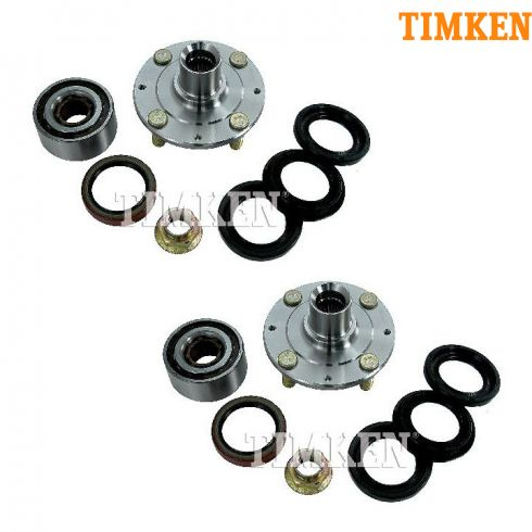 82-83 Honda Accord; 83 Prelude Front Wheel Bearing & Hub Kit Assembly PAIR (Timken)