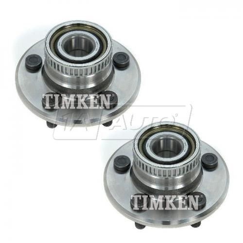 98-99 Dodge, Plymouth Neon (w/ABS, w/RR Disc Brk) Rear Wheel Bearing & Hub Assy PAIR (Timken)