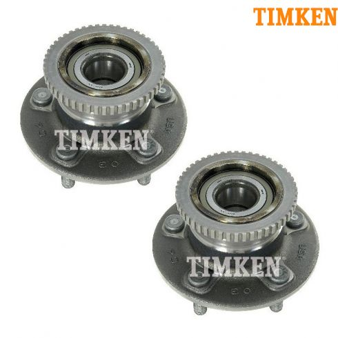 97-02 Mercury Villager, Nissan Quest w/ABS Rear Wheel Bearing & Hub Assy PAIR (Timken)