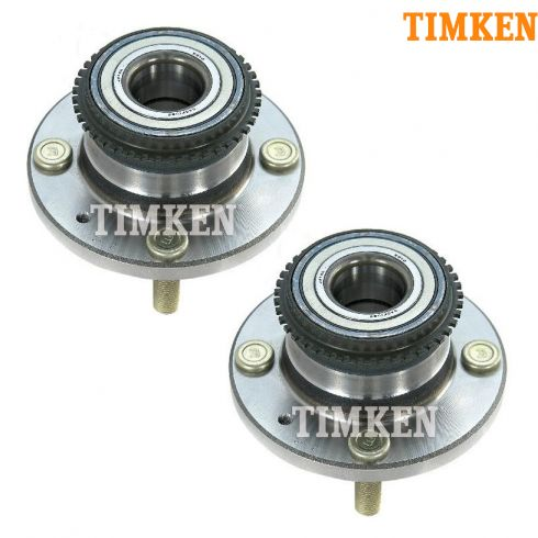 02-07 Mitsubishi Lancer ES w/ABS w/4 Lug Rear Wheel Bearing & Hub Assy PAIR (Timken)