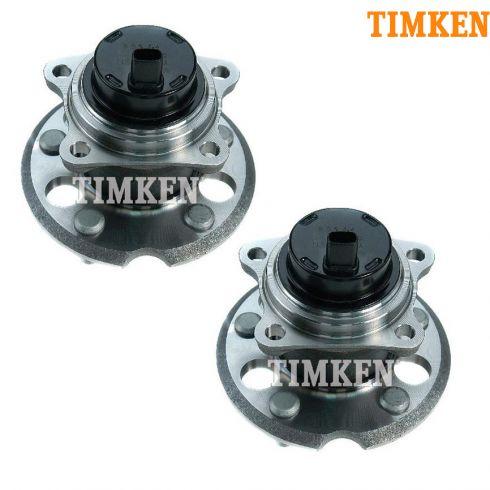 04-10 Toyota Sienna w/FWD Rear Wheel Bearing & Hub Assy PAIR (Timken)