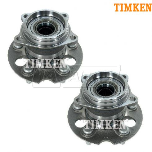 04-10 Toyota Sienna w/AWD Rear Wheel Bearing & Hub Assy PAIR (Timken)