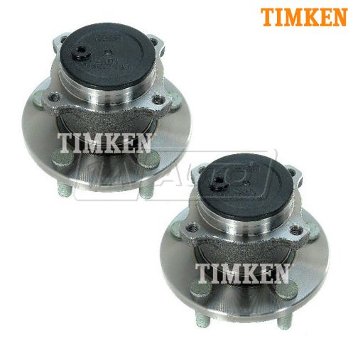 04-08 Mazda 3 (w/o ABS) Rear Wheel Bearing & Hub Assy PAIR (Timken)