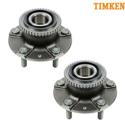 98-02 Mazda 626 (w/ABS) Rear Wheel Bearing & Hub Assy PAIR (Timken)