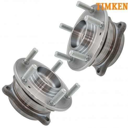 07-12 Hyundai Sante Fe, Veracruz; 11-13 Kia Sorento Rear Wheel Bearing & Hub Assy PAIR (Timken)