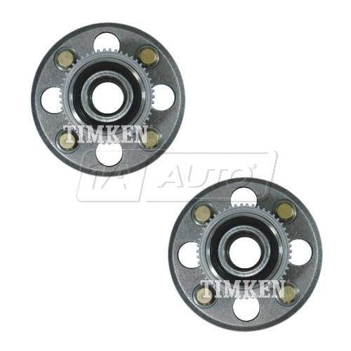 96-00 Honda Civic w/ ABS & Rear Drums Rear Wheel Bearing & Hub Assembly Pair (Timken)