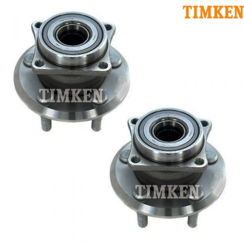 03-06 Pontiac Vibe, Toyota Matrix w/AWD Rear Wheel Bearing & Hub Assy PAIR (Timken)