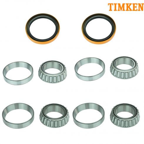 96-99 SLX; 94-01 Passport; 81-94 Isuzu Front Inner & Outer Wheel Bearing, Race, & Seal Kit (Timken)