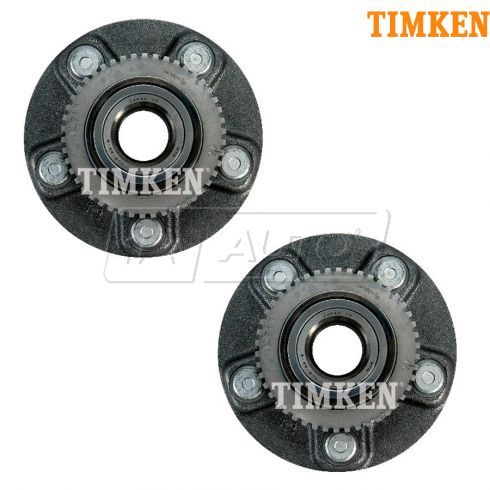97-99 Nissan (w/ABS); 97-99 Infiniti I30 Rear Wheel Bearing & Hub Assy PAIR (Timken)