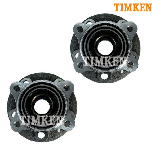 07 (from VIN 367134)-13 Volvo XC90 Wheel Bearing & Hub FRONT PAIR (40 Spline) (Timken)