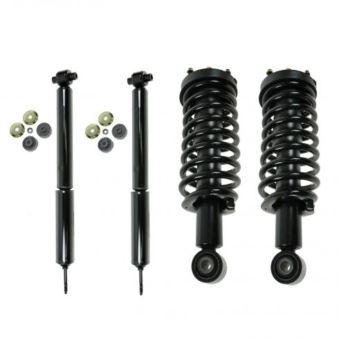 03-11 Crown Victoria, Grand Marquis, Town Car (exc Com Ch) Front & Rear Strut/Shock Kit (Set of 4)