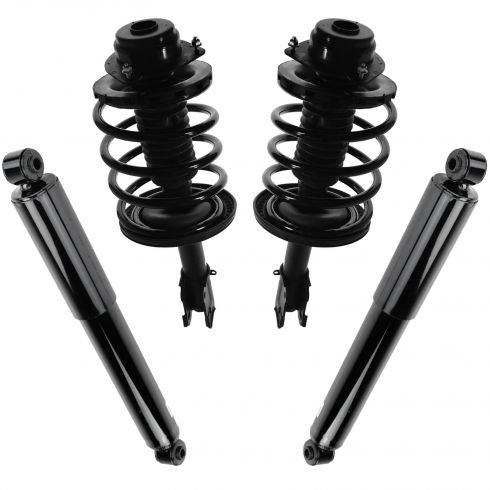 96-00 Chrysler, Dodge, Plymouth Mini Van Front & Rear Strut/Spring & Shock Absorber Kit (Set of 4)