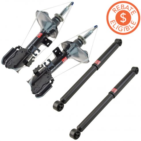 00-04 Pathfinder; 00-03 QX4 4WD Front & Rear Shock Excel-G Kit (KYB)