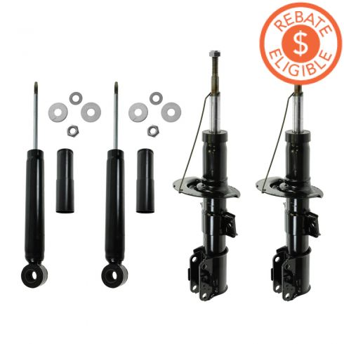 93-97 Volvo 850; 98-04 C70; 98-00 S70, V70 Front & Rear Strut/Shock (Set of 4) (Monroe OE Spectrum)