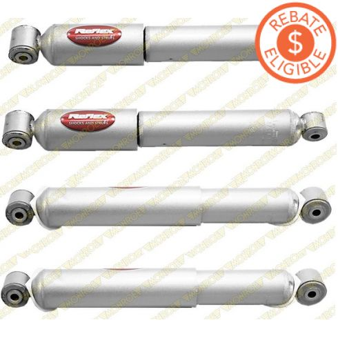 07-09 Chrysler Aspen; 04-09 Dodge Durango Front & Rear Shock Absorber Kit (Set of 4) (Monroe Reflex)