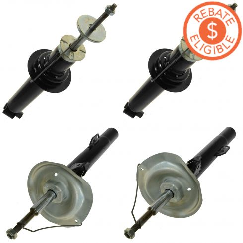 94-01 BMW 740i, 740iL (exc Elect Susp) Front & Rear Strut/Shock Kit (Set of 4) (Monroe OE Spectrum)