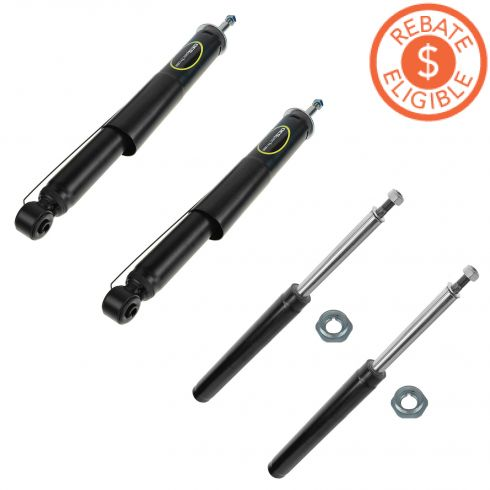 99-03 Saab 9-3 Front & Rear Strut Cartridge/Shock Absorber Kit (Set of 4) (Monroe OE Spectrum)